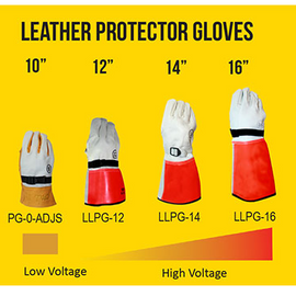 Chicago Protective Apparel Arc Flash Leather Low Voltage Protector Glove - 10""