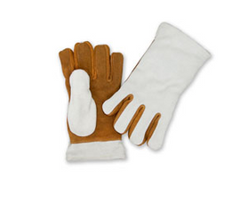 "Chicago Protective Apparel 11"" Leather Heat Resistant Glove, 2 Ply - Price per pair"