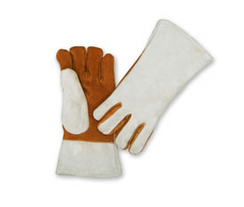 "Chicago Protective Apparel 13"" Leather Heat Resistant Glove, 2 Ply - Price per pair"