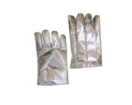 "Chicago Protective Apparel 11"" High Heat Glove, Wool Lined, 19 oz Aluminized Para Aramid Blend on Back, 22 oz Para Aramid Blend on Front - Price per pair"