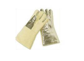 "Chicago Protective Apparel 14"" High Heat Glove, Wool Lined, Aluminized Para Aramid Blend Back, Para Aramid Front - Price per pair"