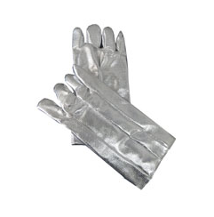 "Chicago Protective Apparel 14"" High Heat Glove, Wool Lined, 19 oz Aluminized Rayon Heavy - Price per pair"