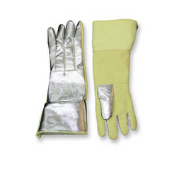 "Chicago Protective Apparel 18"" High Heat Glove, Wool Lined, Aluminized Para Aramid Blend Back, Para Aramid Front - Price per pair"