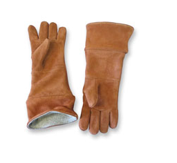 "Chicago Protective Apparel 18"" High Heat Glove, Wool Lined, Thermal Leather - Price per pair"