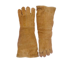 "Chicago Protective Apparel 23"" High Heat Glove, Wool Lined, Thermal Leather - Price per pair"