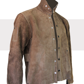 Chicago Protective Apparel Imported Rust Split Leather Jacket - Please Choose Size