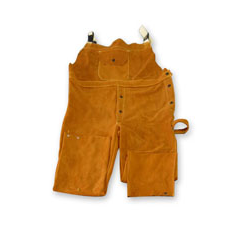 Chicago Protective Apparel Domestic Split Leather Bib Overall - Please Choose Size