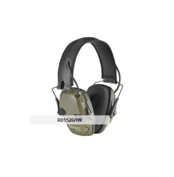 Honeywell Howard Leight Impact Sport Sound Amplification Earmuff  - NRR 22, Green/Black