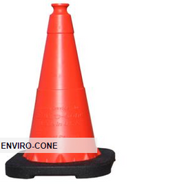 "Enviro-Cone® Traffic Cone, 28"" w/ 6"" Reflective Collar, 7 lb"