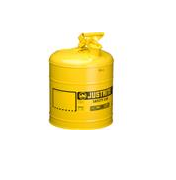 Justrite® Type I Safety Can, 5 gal, Yellow