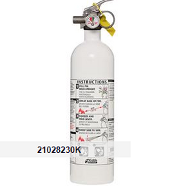 Kidde 2 lb BC Mariner PWC Extinguisher w/ Metal Valve & Plastic Strap Bracket (Disposable)