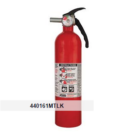Kidde 2.75 lb BC Automotive FC10 Extinguisher w/ Metal Valve, Plastic Bracket & Metal Strap (Disposable)