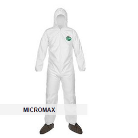 Lakeland MicroMax® Coveralls with Front Hood, Boots, & Elastic Wrists - 25 per case