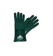 "MCR Safety® Premium Grade Supported PVC Gloves, Double Dipped, 14"" Gauntlets, Nitrile Reinforced, Green - per dozen"