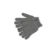 MCR Safety® Heavy Weight String Knit Gloves, 85/15 Cotton/Poly, Hemmed, Small- per dozen