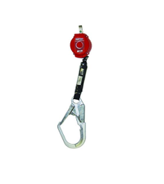 Miller Turbo-Lite 6-Foot Personal Fall Limiter with Lanyard End Steel Locking Rebar Hook