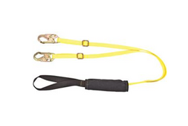 MSA Arcsafe® Shock-Absorbing Lanyard, Single Leg with Locking Snap Hooks