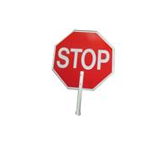"MTS Safety ""Stop/Slow"" Plastic Non-Reflective, 12"" PVC Handle"