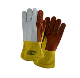 West Chester PIP Premium Heavy Split Cowhide Foundry Glove with Cotton Lining and Kevlar Stitching - Leather Gauntlet Cuff - size L - Price per 6 dozen pair