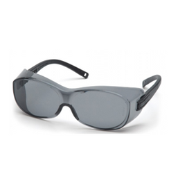 Pyramex Gray Lens with Black Temples - Fits Over Rx Glasses - Box of 12