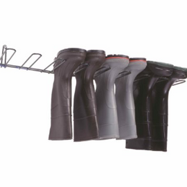 Rackem Safety Boot Rack, Dark Green, PVC Coated, Holds 4 Pairs