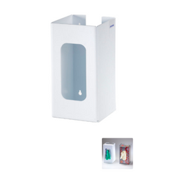 "Rackem Safety 1-Box Top Loading Plastic Glove Dispenser, WHITE HEAVY-DUTY PLASTIC, table or wall mount for easy access, 10.25""""H x 5.25""W x 5.25"" D"