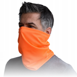 Radians 100% Polyester Neck Gaiter - Orange - 10 per pack