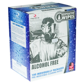 Radians 100 Count Respirator Wipes - Choose Regular or Alcohol Free