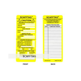 "Brady® Scafftag® Caution Inserts, Yellow - 100 per package - size 7 5/8"" x 3 1/4"""