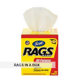 Scott® Rags In A Box, 300 per box