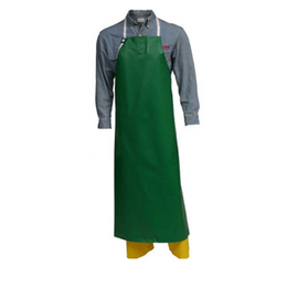 Tingley SafetyFlex Apron Flame-Resistant, Chemical-Resistant PVC on Polyester Green, Dimensions: 38 x 48""