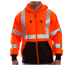 Tingley Hi-Vis Zip Up Hoodie - Orange