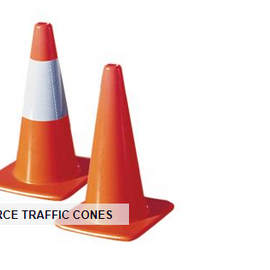 "TruForce™ Traffic Cone w/ 6"" Reflective Collar, 18"", 2 lb"