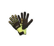 TruForce™ Nitrile Coated Dorsal Protection Gloves, Large - Black/Hi-Vis Yellow, per pair