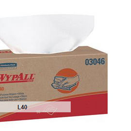 "WypAll* L40 Wipers, Pop-Up Box, 16 3/8"" x 9 13/16"", 9 Boxes - 100 each box"