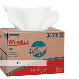WypAll* X60 Wipers - 10 boxes - 126 each box