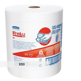 WypAll* X80 Towels, Jumbo Roll, Red, 475 per roll