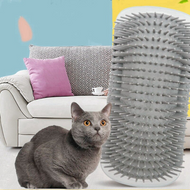 Self Groomer and Wall Corner Massage Comb with Catnip