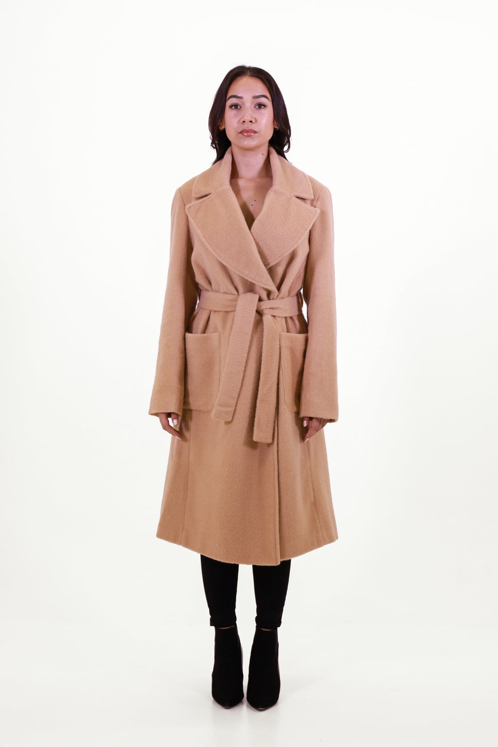 Windsor Camel Wrap Coat