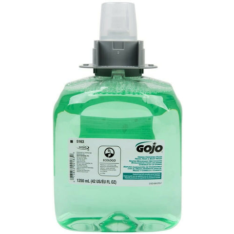 GOJO 5163-03 Green Certified Foam Hand, Hair & Body Wash 1250 mL (Pack of 3)
