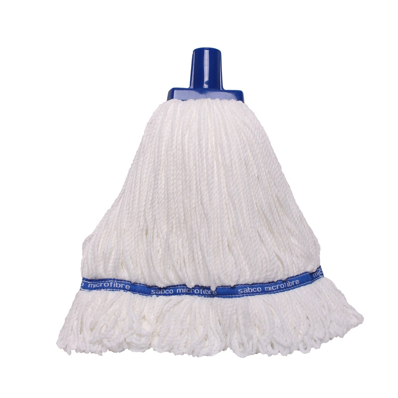 Sabco Professional 350g Premium Grade Microfibre Round Mop Head Blue - Bosca Chemicals & Cleaning Supplies
