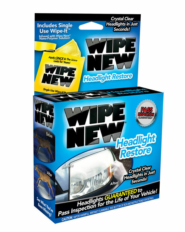 WIPE NEW Headlight Restoration Kit -WIPE 2 - Restore Headlights To New - Bosca Chemicals & Cleaning Supplies