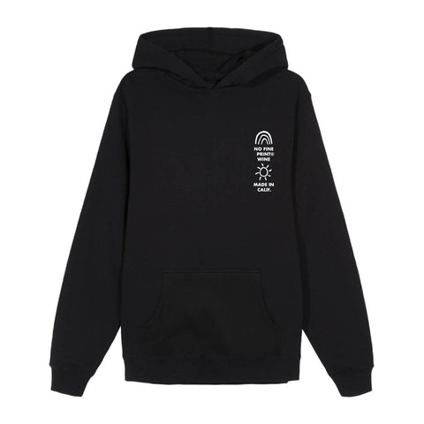 Rainbows & Sunshine Hoodie-No Fine Print Wine