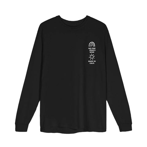 Rainbows & Sunshine Longsleeve-No Fine Print Wine