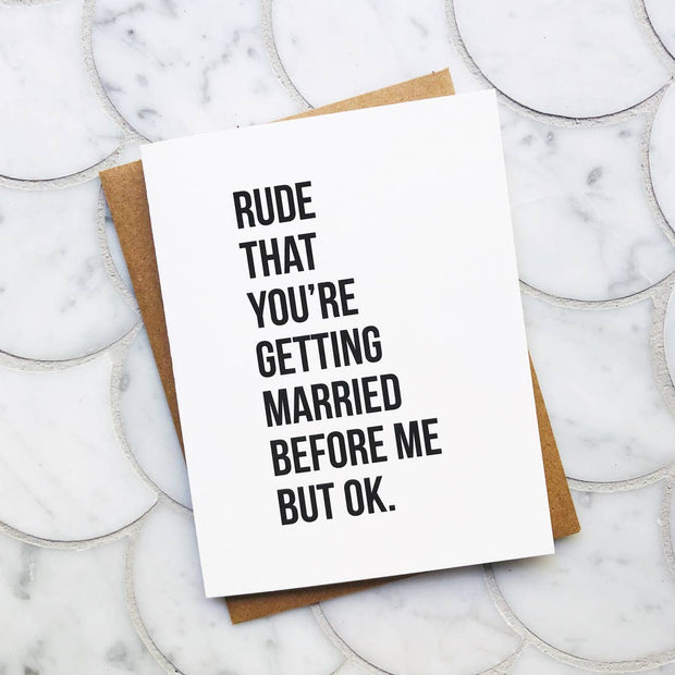 Rude But OK Wedding Card - BodyFactory