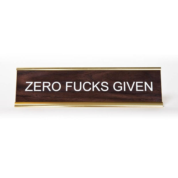 Zero Fucks Given Name Plate - BodyFactory