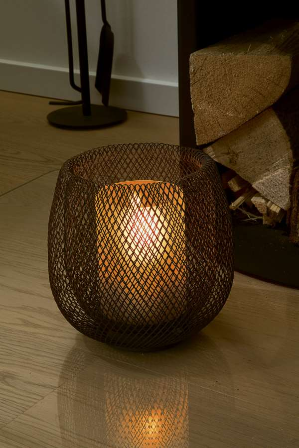 Mesh Lantern Powder-Coated Steel - BodyFactory