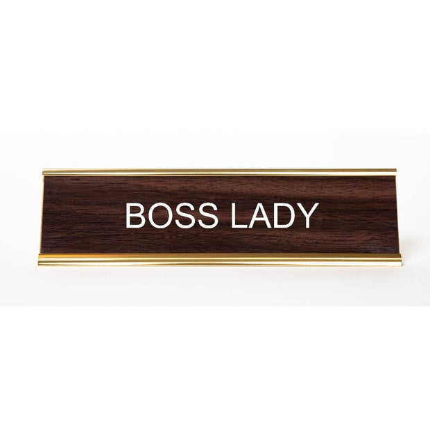 Boss Lady Name Plate - BodyFactory