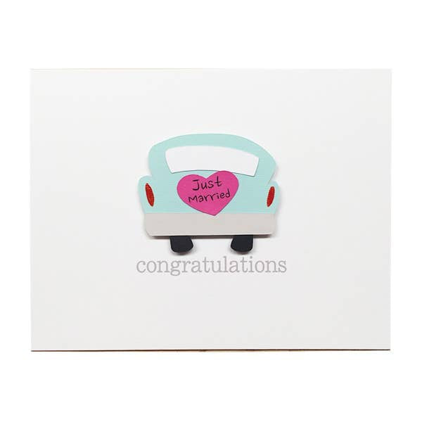 Just Married Car Card - BodyFactory