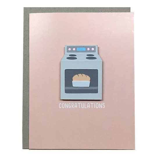 Bun in the Oven Card - BodyFactory